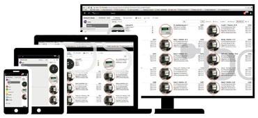 Интерфейс сервера на разных устройствах