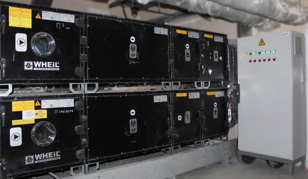 Шкаф управления и Приточные системы операционных