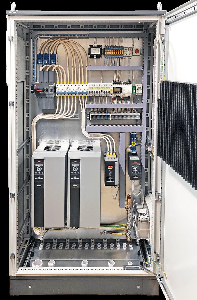 Шкаф управления напольный с обогревом состав