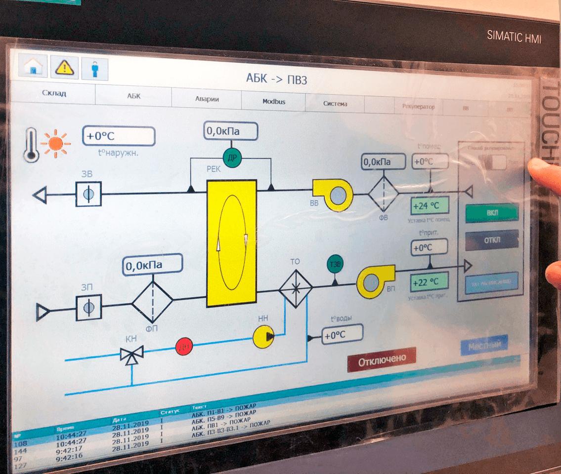 Панель диспетчеризации Siemens touch